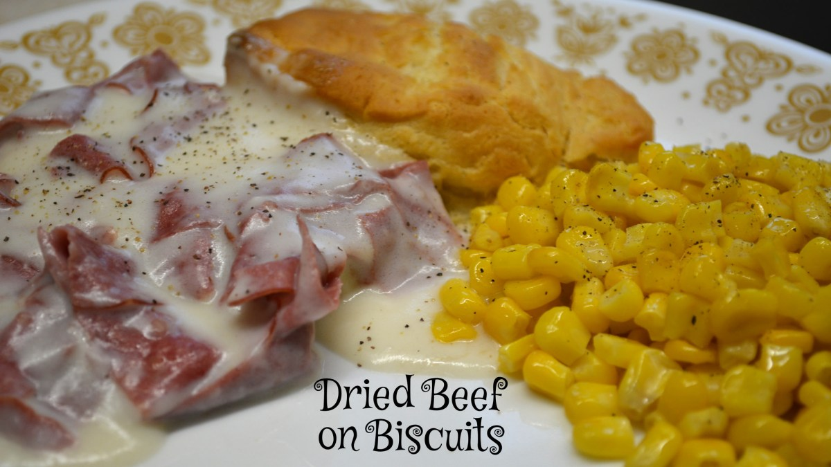 Dried Beef on Biscuits
